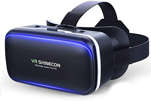 "3D VR Headset, Brille Einstellbar Brille Video Movie Game Brille Virtual 3D Reality Glasses VR World Head Mounted Für 3D Filme Und Spiele Für 4.7""-6"" Android IOS iPhone Samsung Galaxy Mega 2"