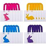 Chuangdi 20 Pezzi Borse Coniglietti Pasquali Sacchetto Regalo di Pasqua Borse di Tela Sacchetto per Trucchi Poliestere Non Tessuto per Bomboniere Pasquali, 4 Stili