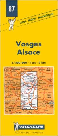 Carte routière : Vosges - Alsace, 87, 1/200000