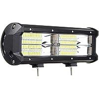 Fengbingl-ac Luz de conducción LED 9 Pulgadas 144W 8D LED del Trabajo de Barras inundación del Punto del Haz Combo DC 10-30V for Carro del Camino Remolque (Color : Negro, tamaño : 9 Inch)