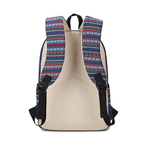 Zaino Casual Scuola Set 3pcs Daypacks / Canvas Backpack Tela Zaini Ragazza / Donna+ Messenger Bag + Purse-Tipo C Nero