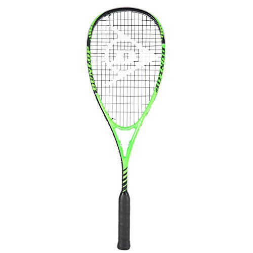 Dunlop Squash Blackstorm Power 2.0 HL Racket, Schwarz/Grün, One Size