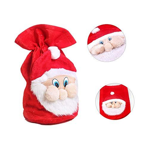 Tbest Weihnachtsmann Sack Rot Geschenksack Nikolaussack, Weihnachten Santa Sack Große Rote Weihnachtssäcke Geschenktüten Weihnachten Xmas Party Kostüm Süßigkeiten Geschenk Säcke für Ihre Liebhaber (Große Weihnachts Kostüm)