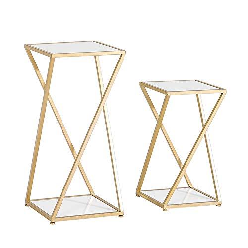 Tische MEIDUO Beistelltisch, Meta-Schachteltische Faux Marmor Sofa Table End Table für Schlafzimmer Wohnzimmer Modernes Design Computertisch (Farbe :...