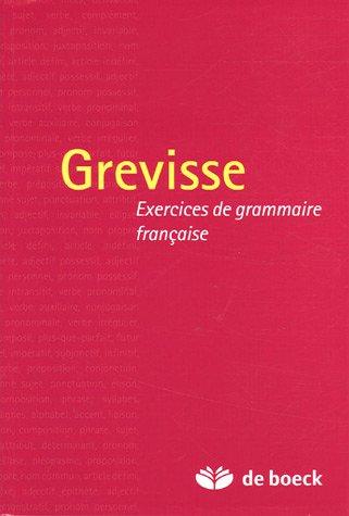 Grevisse : Exercices de grammaire française