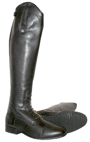 Mark Todd Full Zip Leather Field Boot - Black, 43