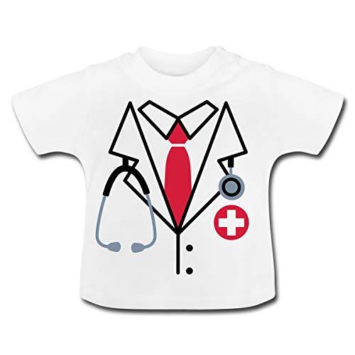 Kostüm Patienten Arzt - Spreadshirt Arzt Kostüm Baby T-Shirt, 18-24 Monate, Weiß