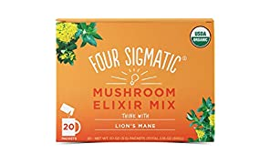 Four Sigma Foods Lion's Mane Mushroom Elixir Mix with Sweet Herbs, 60 g (20 Sachets)