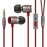 GGMM Universal In Ear Handsfree Stereo Earphone Full Metal Housing Dynamic Dual Drivers Headphone, Clear and Clean Human Voice Earphone with Noise-isolating for Apple or Android Devices, MP3/4 Players or others with 3.5mm Port-Titanium Grey