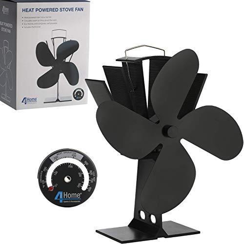 4YourHome - Ventilador de estufa silencioso y termómetro de cocina de satén,...