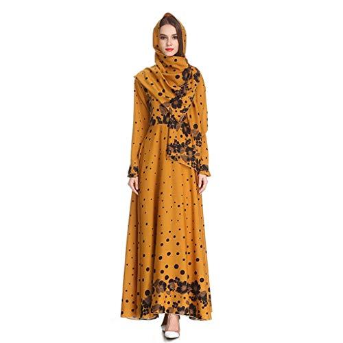 Kostüm Türkei National - QinMM M-Muslimische Damen Aristokratisches Großes Kleid - Abaya Dubai Modische Schlanke National Style Kostüme Arabische Indische Türkei Lässig Abendkleid Hochzeit Cavaldo Robe S-XXL