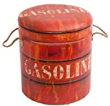 Sitztonne 'Gasoline' orange Sitztruhe Sitzhocker Holztruhe Holztonne Aufbewahrungsbox