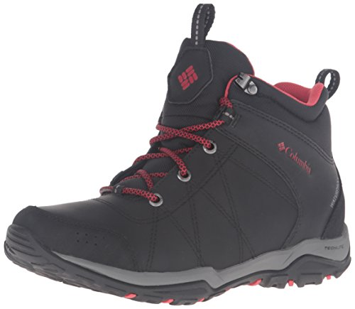 Columbia Fire Venture Mid Waterproof, Scarpe da Arrampicata Donna, Nero (Black, Burnt Henna), 39 1/2 EU