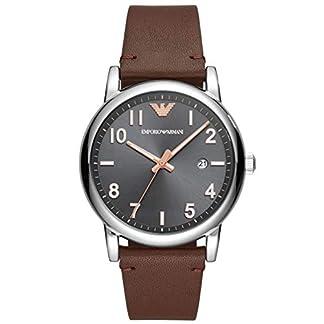 Emporio Armani Reloj Analógico para Hombre de Cuarzo con Correa en Cuero AR11175