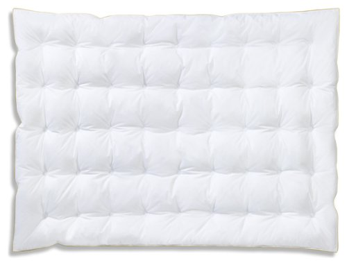 Frau Holle Kinder-Bettdecke aus 100% Gänsedaunen, 100 x 135 cm, 260 g - - Gänsedaunen Bettdecke