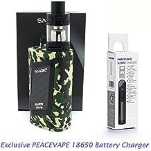 SMOK ALIEN Kit 220W con TFV8 Baby Tank 2mL Verde Mimetico Con PEACEVAPE ™ 18650 Caricatore Slim a 1 slot E Sigaretta Senza Nicotina