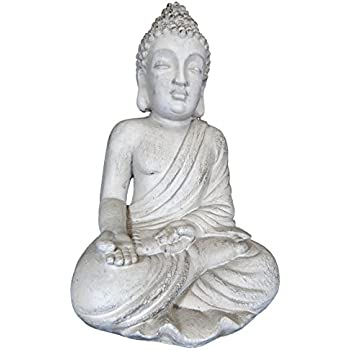 bouddha statue blanc pour int rieur et ext rieur assis. Black Bedroom Furniture Sets. Home Design Ideas