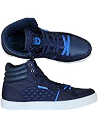 90679754b4e7 Mens HI TOP Trainer Boots UNSUNGHERO Jepson in Black Navy Grey Colours Sale  Price