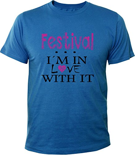 Mister Merchandise Herren Men T-Shirt Festival - I´m in love Tee Shirt bedruckt Royal