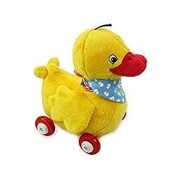 Duck Peluche papera Nelli su rotelle in legno, 23cm, numero modello 13135