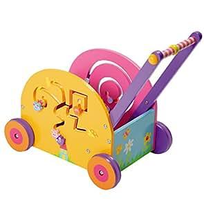 Boikido Jouet en Bois Coffre à jouets Chariot d'activités Souris
