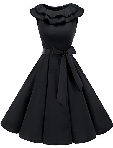 bridesmay Damen 1950er Vintage Retro Rockabilly Halloween Kostüm Festlich Cocktailkleid Abendkleid...