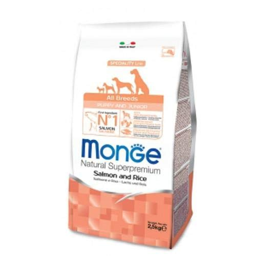 Monge Natural All Bredds Puppy and Junior Salmone e riso 800g