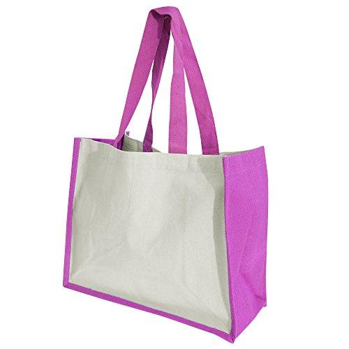 Westford Mill Printers Jute-Tasche / Shopper / Einkaufstasche, 21 Liter Schwarz