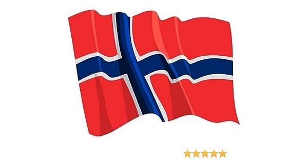 Autoaufkleber Sticker Fahne Norwegen Wehend Flagge Aufkleber Auto