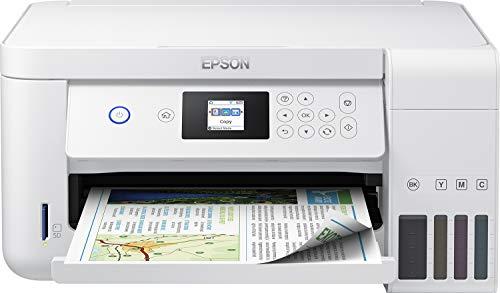 Epson EcoTank ET-2756 3-in-1 Tintenstrahl Multifunktionsgerät (Drucken, scannen, kopieren, DIN A4, Duplex, WiFi, Display, USB 2.0, großer Tintentank, hohe Reichweite) weiß