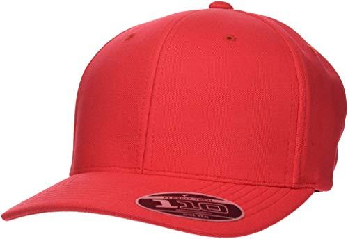 Flexfit 110 Cool und Dry Mini Pique Cap, Red, one Size Pique Mesh Fitted Cap