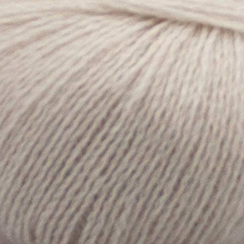 Pascuali Strickwolle Cashmere Lace, 170 m, 25g, Wolle Schnee 501 - 100% Mongolische Cashmere