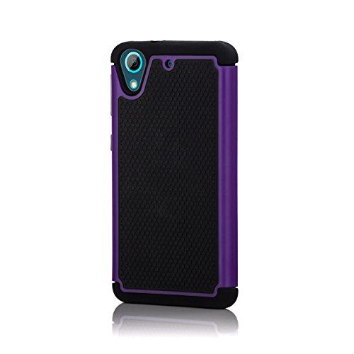 32nd Etui Coque Antichoc Double Couche pers HTC Desire 626 Coque de Protection Robuste - Violet