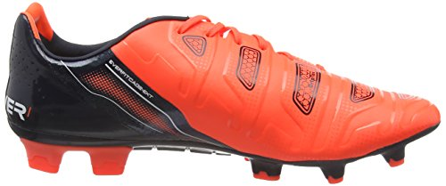Puma Evopower 1.2 Fg, Chaussures de Football homme Orange (lava Blast-white-total Eclipse 08)