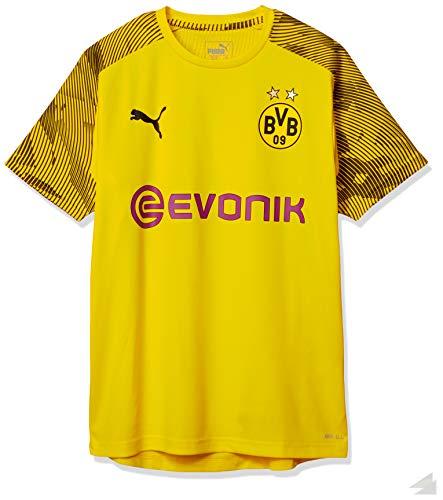 PUMA Kinder BVB Training Jersey Jr with Evonik Logo Trainingstrikot, Cyber Yellow Black, 116