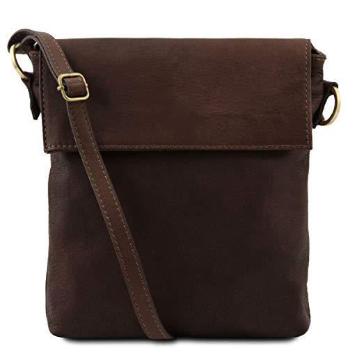 aaf21702857 Tuscany Leather Morgan Bolso en Piel con Bandolera Marrón Oscuro