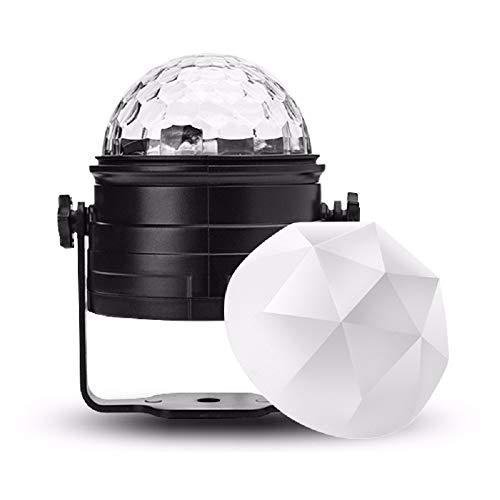 ED Laser Bühnenlicht Magic Ball Bunte Lichter Party Ball Projektor Kristall Nachtlicht mit Fernbedienung und mattem Cover für Home Party, Bar, DJ, KTV, Schlafzimmer ()
