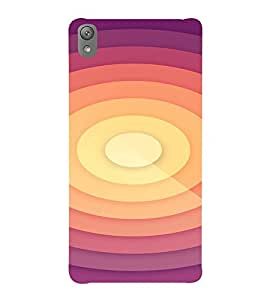 PrintVisa Symmetrical Sunrise Pattern 3D Hard Polycarbonate Designer Back Case Cover for Sony Xperia E5