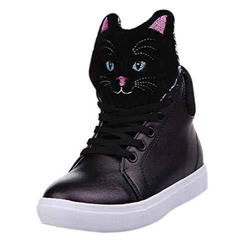 (Schuhe, Resplend Stiefel Frauen Stiefeletten Outdoorschuhe Lässige Schnürschuhe Studentenschuhe Cartoon Katze Kopf High-Top Muffin Schuhe)