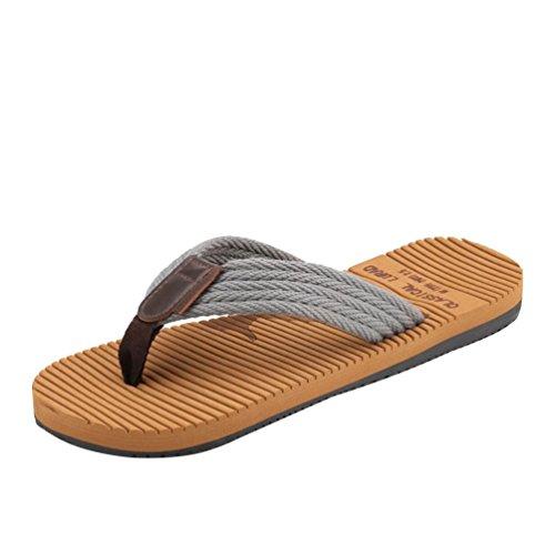 Baymate Uomo Spiaggia Pantofole Casuale Vacanza Sandali Antiscivolo Infradito Grigio