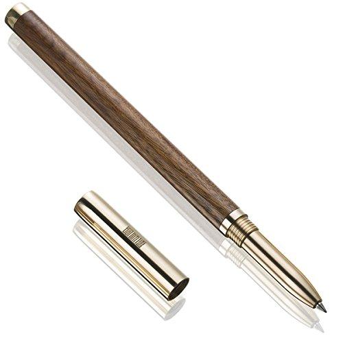 Penna roller, premium metallo legno penna a sfera, soddisfazione garantita, ideale per un regalo!