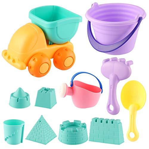 ele ELEOPTION Sandspielzeug,Strandspielzeuge,Happy Sand Spielset für Kinder Kleinkinder Jungen Mädchen Wasserspielzeug (11 PCS)