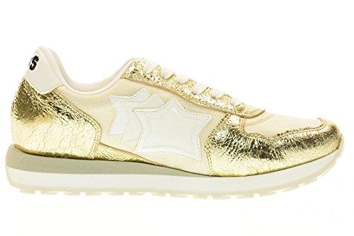 ATLANTIC STARS Mädchen Sneaker Schuhe niedriger LYNX PO 86 Goldene