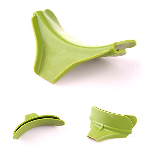 SwirlColor Küchenhelfer Silikon Ausgusstülle Mess freies Ausgießen Flüssigkeit Suppe Öl aus Schüsseln Pfannen Töpfe - 4