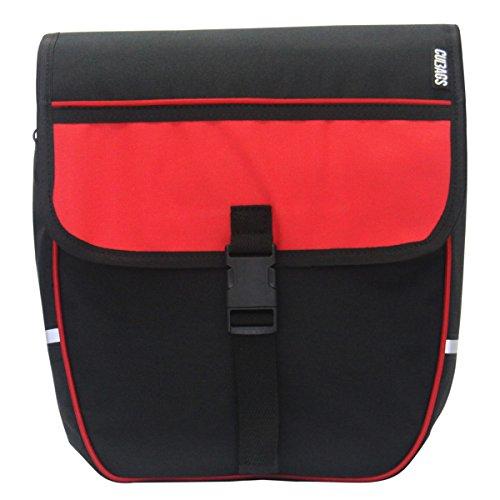 C-BAGS HEART double TREKKING Gepäckträger Fahrradtasche 2-er Set diverse Muster Red