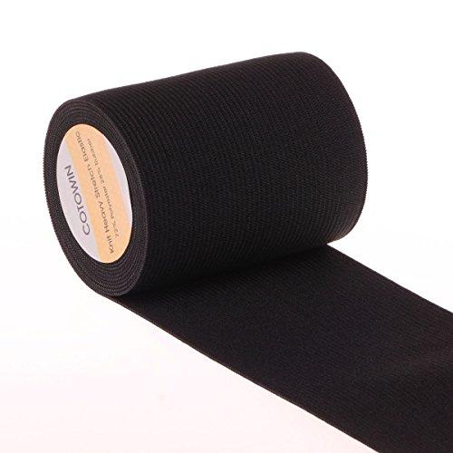 7,6 cm breit Stricken Heavy Stretch Hohe Elastizität Elastic Band 3 Meter schwarz (Stricken Band)
