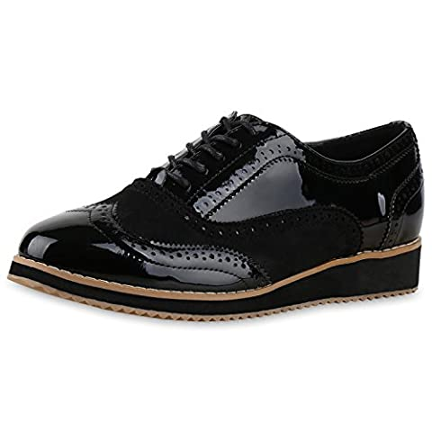 napoli-fashion , Brogue femme - noir - noir all black,