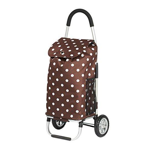 Einkaufstrolley 50L Einkaufstasche Trolley Einkaufswagen Tasche Sackkarre braun