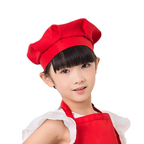 QHGstore Erwachsener Kinderchef Pilz Kappen Kuchen Arbeits Chef Hut kochende Hut Chef Kappe rot (Roter Pilz Kind Hut)