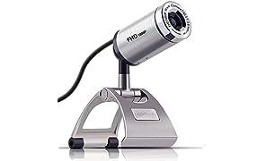 PAPALOOK PA150S Webcam Full HD 1080P Cámara Web Alta Definición con Micrófono Incorporado para PC, Portátil, Web CAM de USB Plug and Play para Youtube, Skype, Compatible con Windows 7/8 / 10 Mac OS